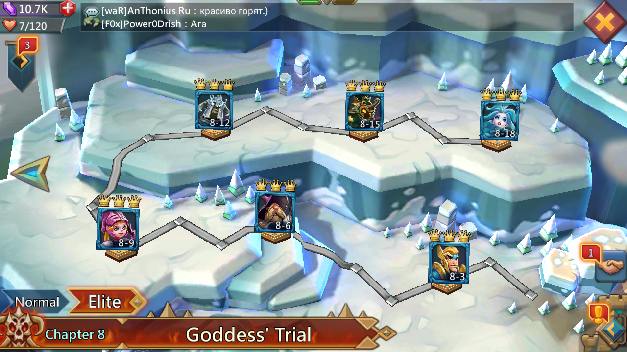 lords mobile hero level 8-7
